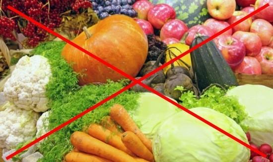 Необходимо воздержаться от продуктов, вызывающих вздутие