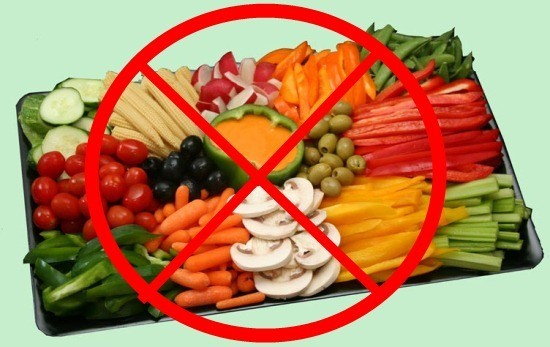 Исключаются продукты, вызывающие усиленное газообразование