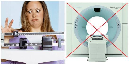 Ожирение пациента может стать препятствием к прохождению КТ