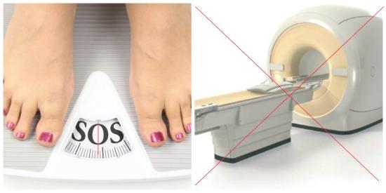 У аппарата КТ есть максимально допустимая нагрузка по весу обследуемого