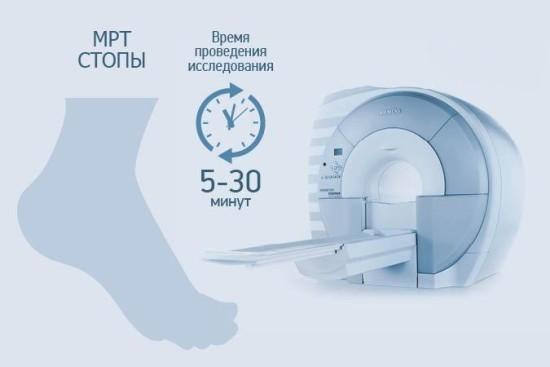 Магнитно-резонансная томография стопы занимает до получаса