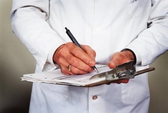 Данные о дозовых нагрузках вклеиваются в медицинскую карту больного