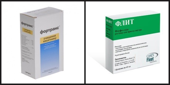 Фортранс и Флит фосфо-сода