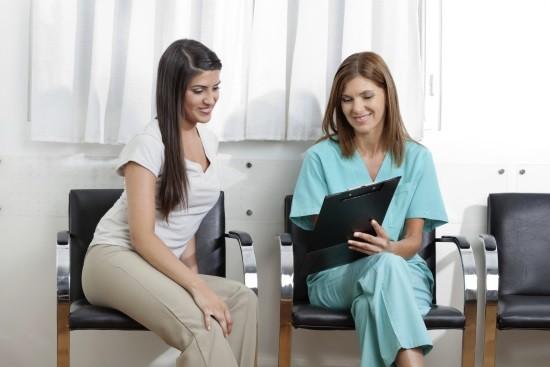 Пациентка после кольпоскопии