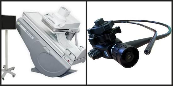 Аппарат для рентгеноскопии и фиброгастроскоп