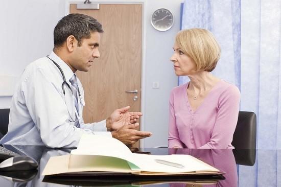 На консультации у врача перед лапароскопией
