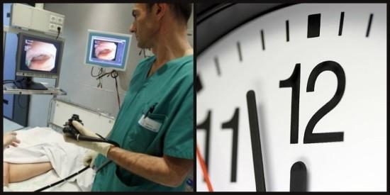 Колоноскопия длится от 10 минут до 1 часа