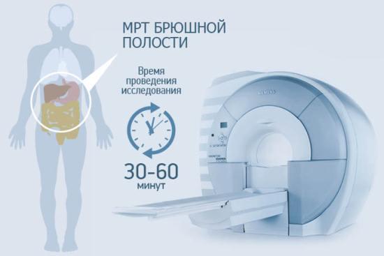 Время магнитно-резонансного исследования колеблется от 30 до 60 минут