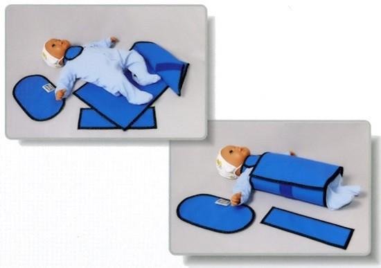Свинцовая защита для ребенка, используемая при рентгенографии