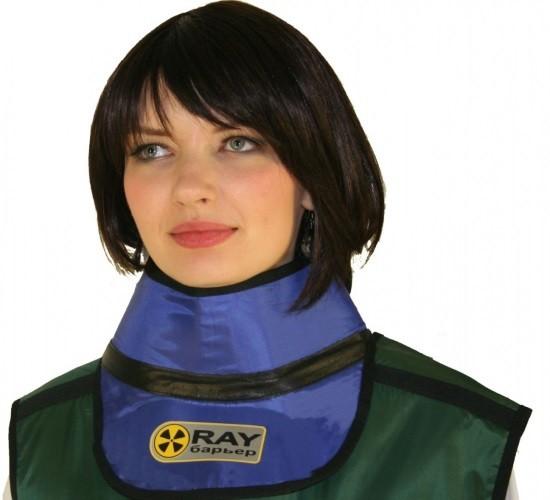 Для эффективной защиты пациентов от рассеянного рентгеновского излучения используется просвинцованная одежда