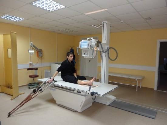 Проведение рентгенографии голеностопного сустава