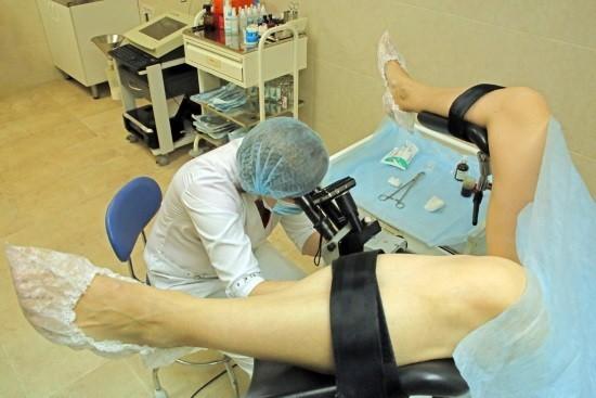 Проведение кольпоскопии беременной