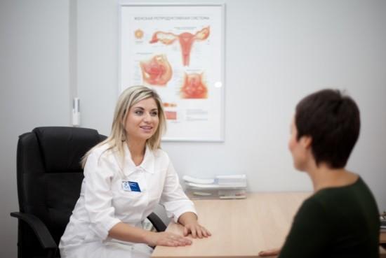 На консультации у гинеколога после кольпоскопии
