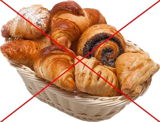 Отказ от сдобных булочек